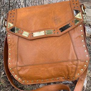 Foley+ Corinna crossbody leather studded bag